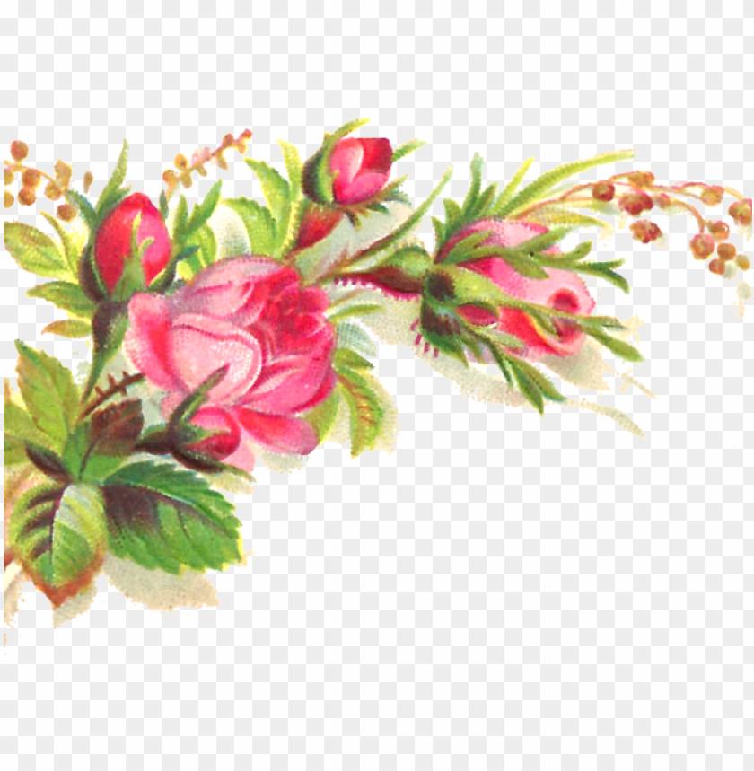 free PNG ink flower clipart transparent background - floral corner border transparent PNG image with transparent background PNG images transparent