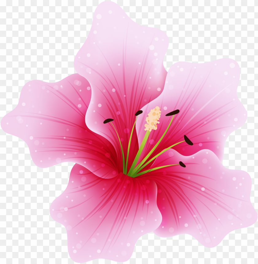 free PNG ink flower png by hanabell1 on deviantart - pink flower PNG image with transparent background PNG images transparent