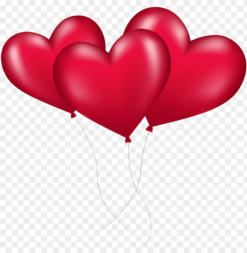 free PNG ink heart transparent background png - red heart balloons PNG image with transparent background PNG images transparent