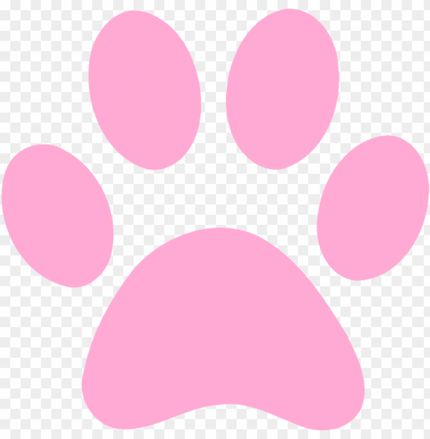 free PNG ink panther paw - pink dog paw print PNG image with transparent background PNG images transparent