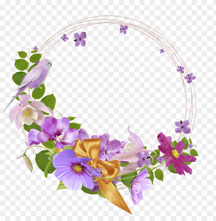 free PNG ink round flowers transparent frame - round flower frames PNG image with transparent background PNG images transparent