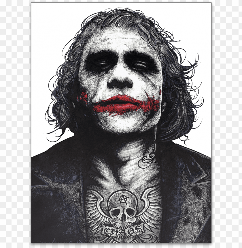 free PNG inked - joker - poster - didnt your parents teach you not to fuck with crazy PNG image with transparent background PNG images transparent
