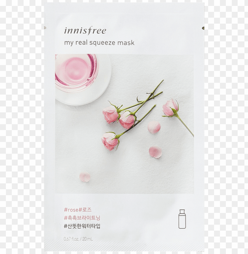 free PNG innisfree my real squeeze mask rose 20ml,sheet mask,innisfree,glowrious - innisfree sheet mask PNG image with transparent background PNG images transparent