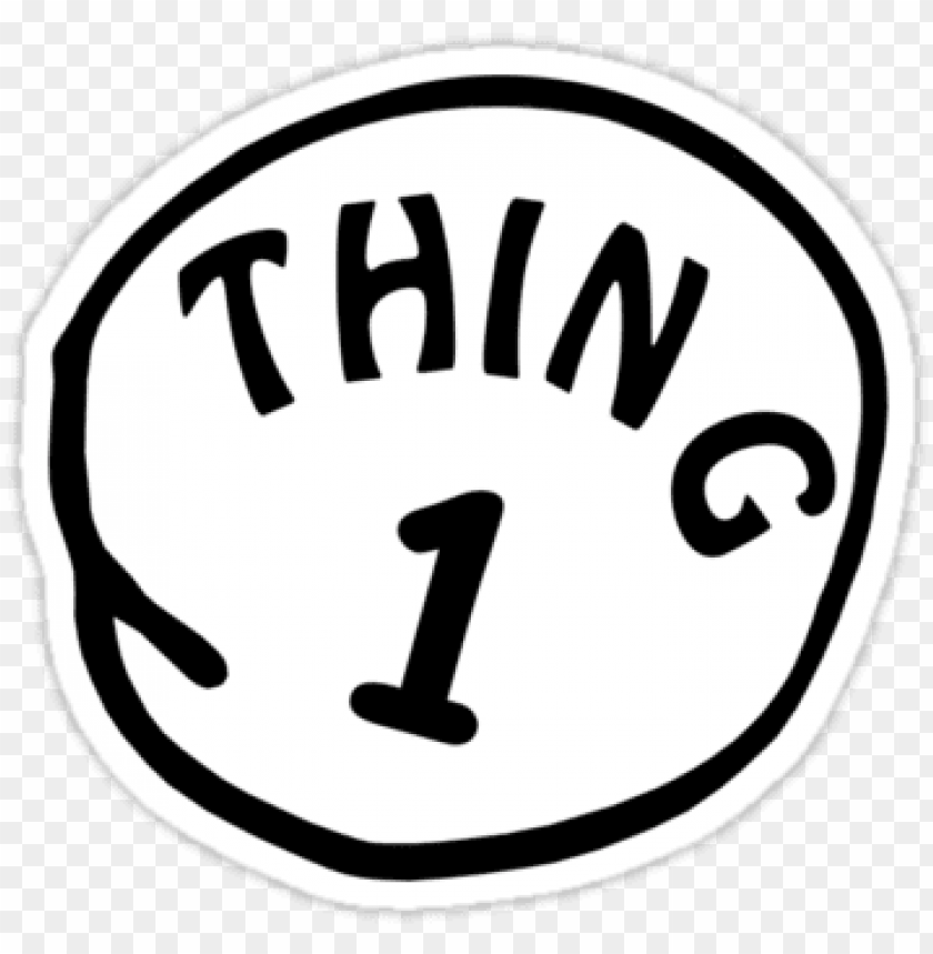 This is an image of Thing 2 Logo Printable intended for 3 thing 4