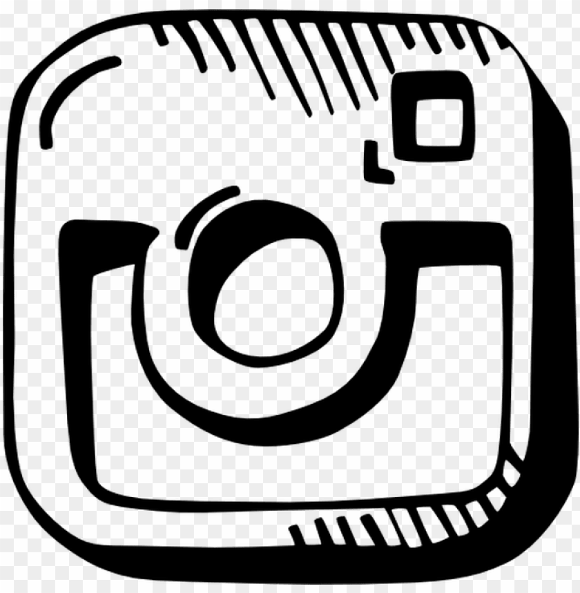 Instagram Draw Logo Free Vector Icons Designed By Agata Instagram Icon Hand Draw Png Image With Transparent Background Toppng