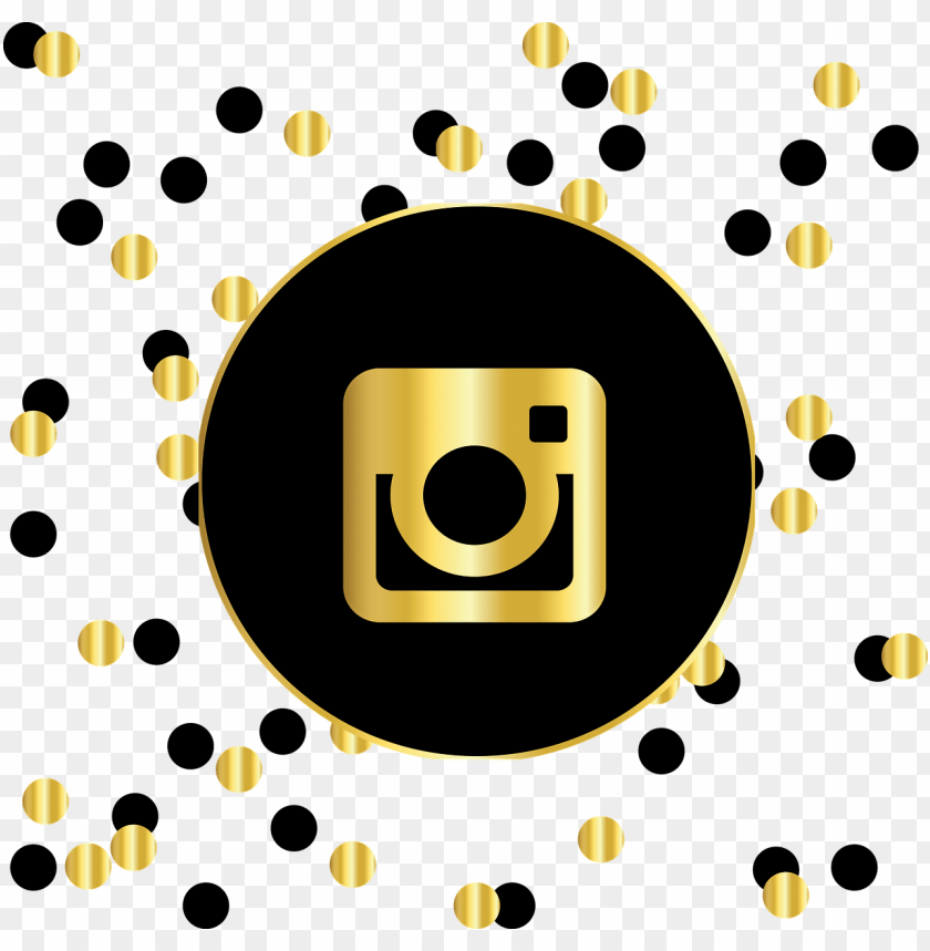 free PNG instagram, social media, icons, website, symbol, circle - instagram logo black and gold PNG image with transparent background PNG images transparent