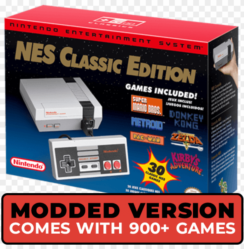 free PNG intendo nes classic edition modded with 900 games - nintendo entertainment system nes classic editio PNG image with transparent background PNG images transparent