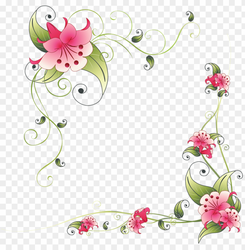 free PNG interest corner flower and decoupage flovinpng - flower corner border desi PNG image with transparent background PNG images transparent