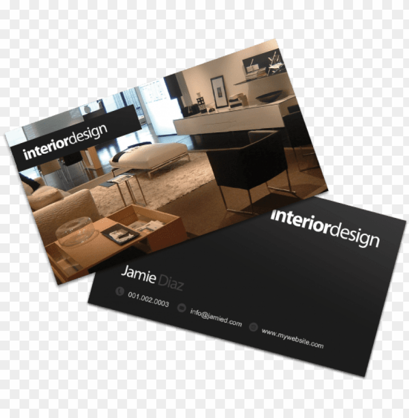 Interior Designer Business Cards Examples Interior Design Visiting Card Vector Png Image With Transparent Background Toppng