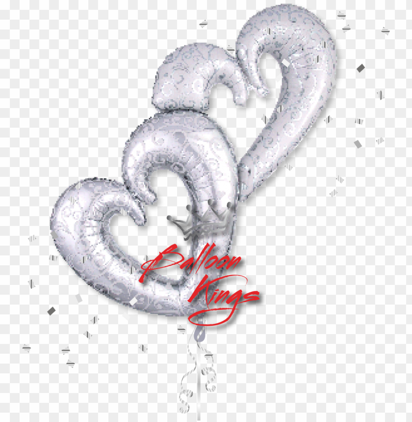 free PNG interlocking silver hearts PNG image with transparent background PNG images transparent