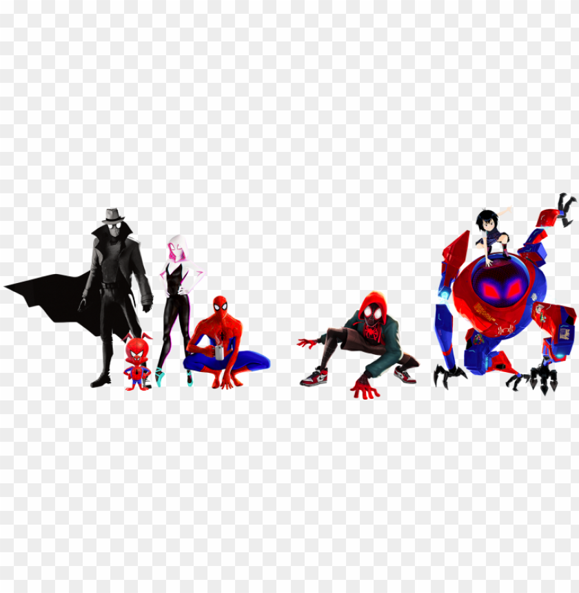 Into The Spider Verse Group Spider Man Into The Spider Verse Png Image With Transparent Background Toppng