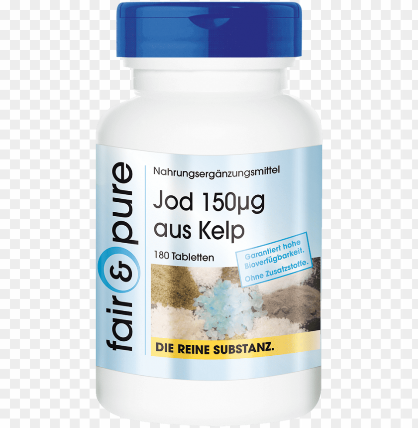 free PNG iodine 150µg from the brown alga kelp, 180 tablets, - capsule PNG image with transparent background PNG images transparent