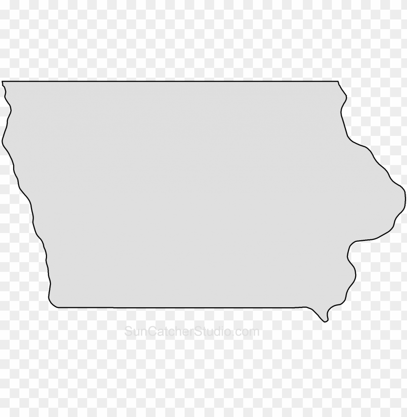 iowa map outline shape state stencil clip art scroll PNG image with transparent background@toppng.com