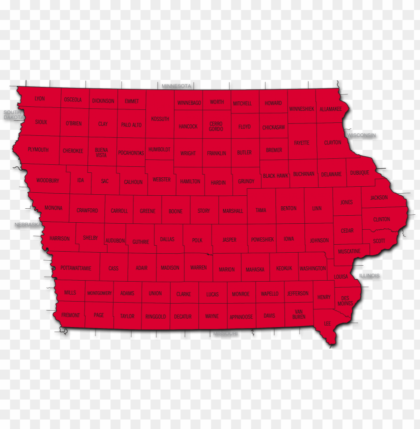 free PNG iowa state radon map - radon color PNG image with transparent background PNG images transparent
