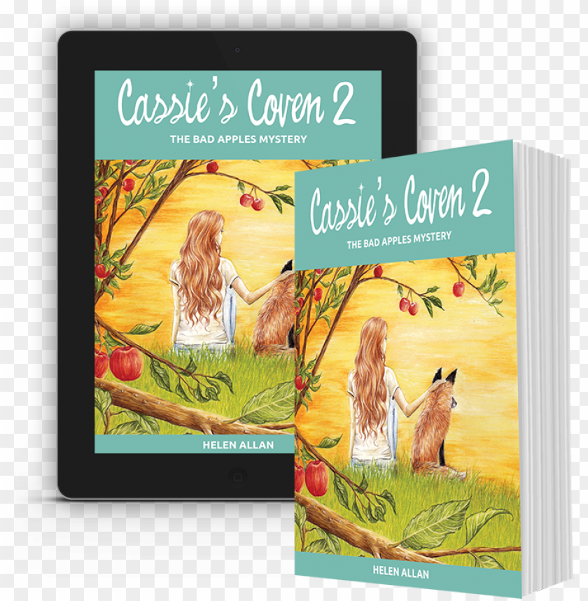 Ipad And 3d Book Mockup Cassie S Coven 2 Web Bengal Tiger Png