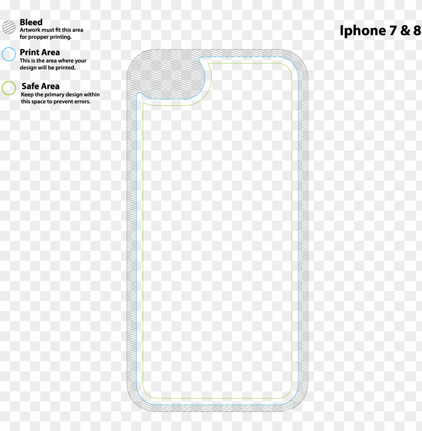 free PNG iphone 7 case - iphone 8 plus template PNG image with transparent background PNG images transparent