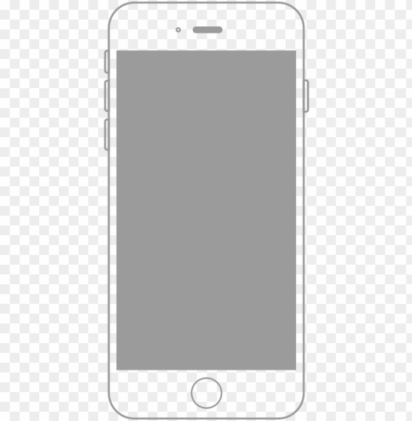 Iphone Outline Png Vector Free Download Iphone Outline White Transparent Png Image With Transparent Background Toppng