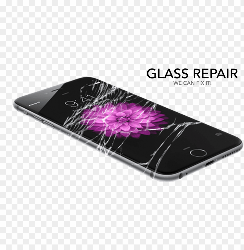 free PNG iphone repair 310 repair broken screen, battery, charging - iphone 6 s display broke PNG image with transparent background PNG images transparent