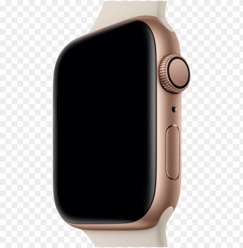 free PNG iphone watch xs xr mockup template - apple watch series 4 gps rose gold PNG image with transparent background PNG images transparent