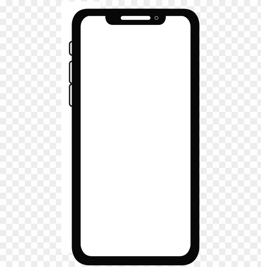 free PNG iphone,iphone x,icon,flat image - iphone x illustration PNG image with transparent background PNG images transparent