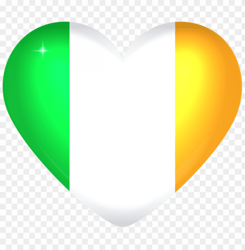 free PNG Download ireland large heart flag clipart png photo   PNG images transparent