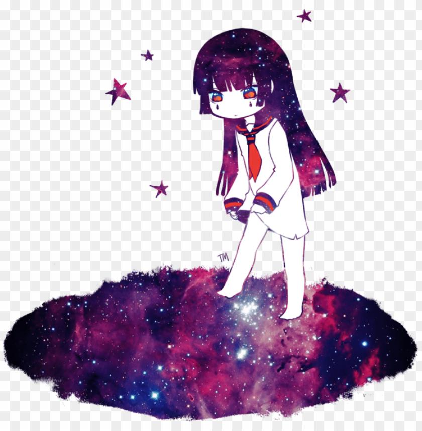 irl by tokyomenace on galaxy anime girl transparent 11563504326rtee5yustt