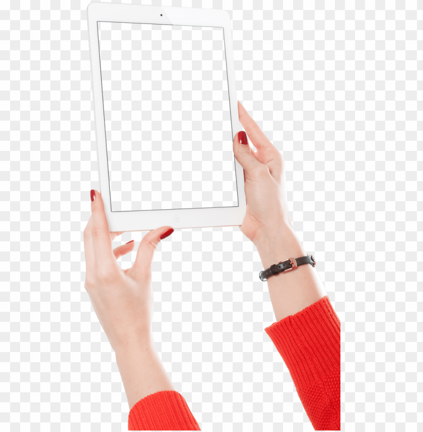 free PNG irl hand holding white tablet png image - hand holding white ipad PNG image with transparent background PNG images transparent
