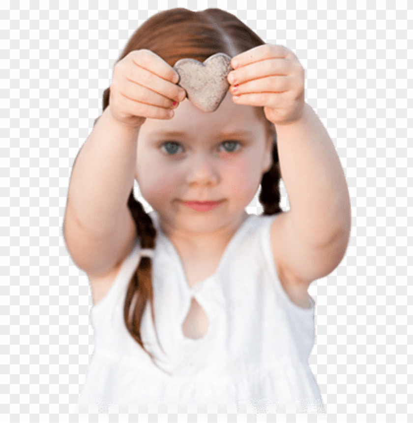 free PNG irl holding heart shaped rock over her head - girl holding rock PNG image with transparent background PNG images transparent