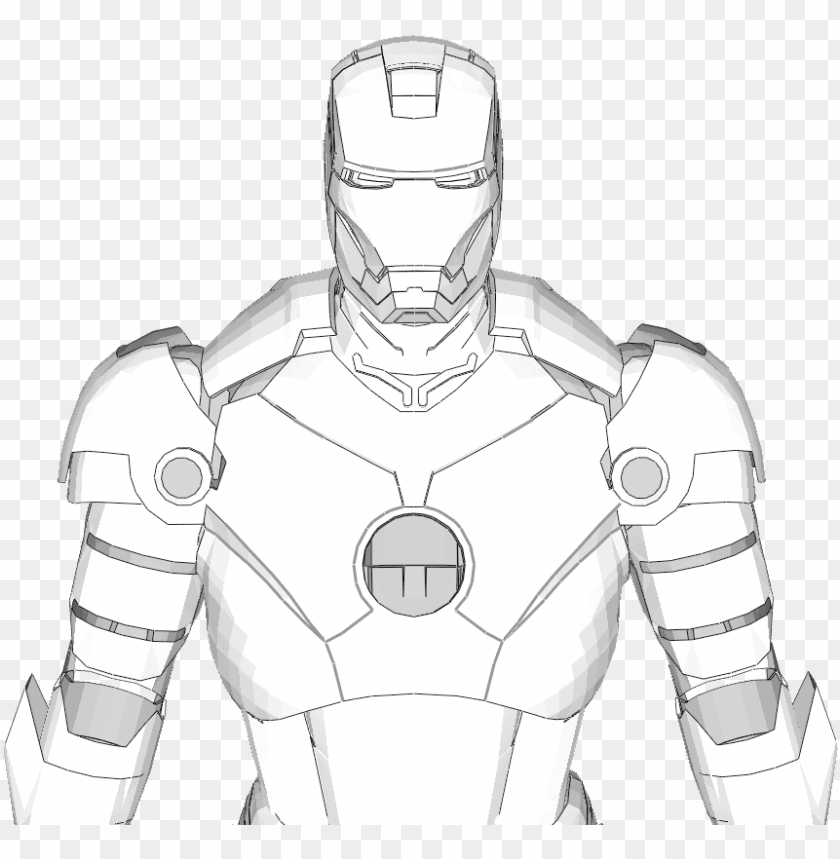 Iron Man Mark 3 Full Armor Costume Foam Pepakura File Iron Man