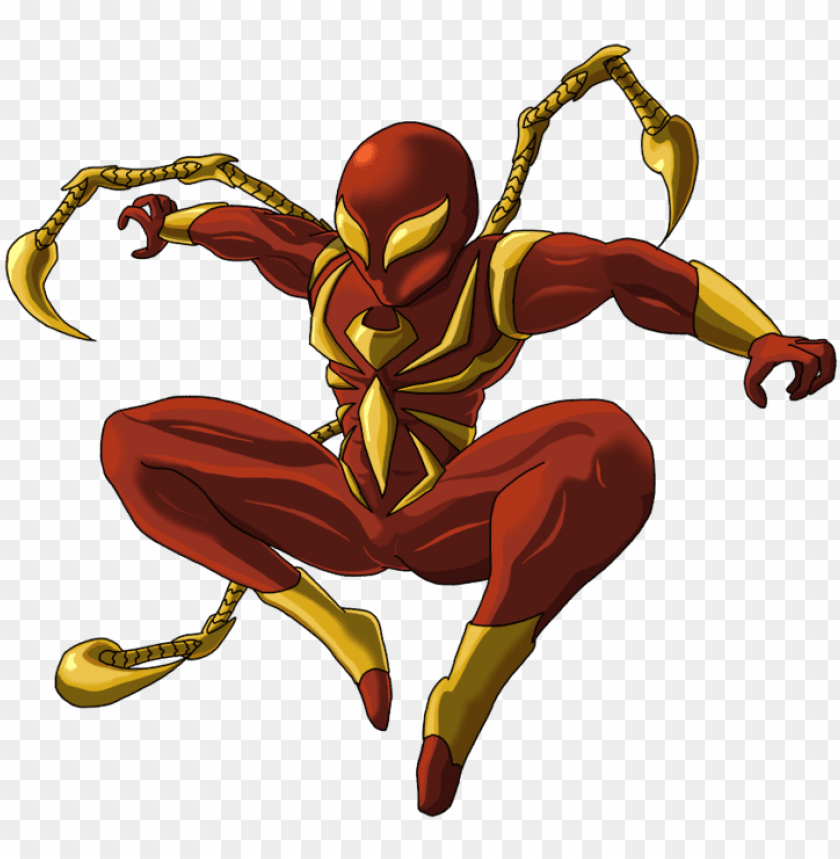 free PNG iron spiderman png photo - iron spider man spider man web of shadows PNG image with transparent background PNG images transparent