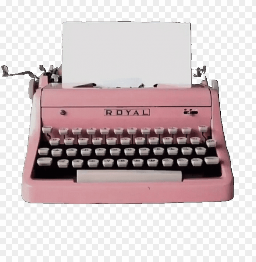 free PNG is this your first heart - vintage pink typewriter PNG image with transparent background PNG images transparent