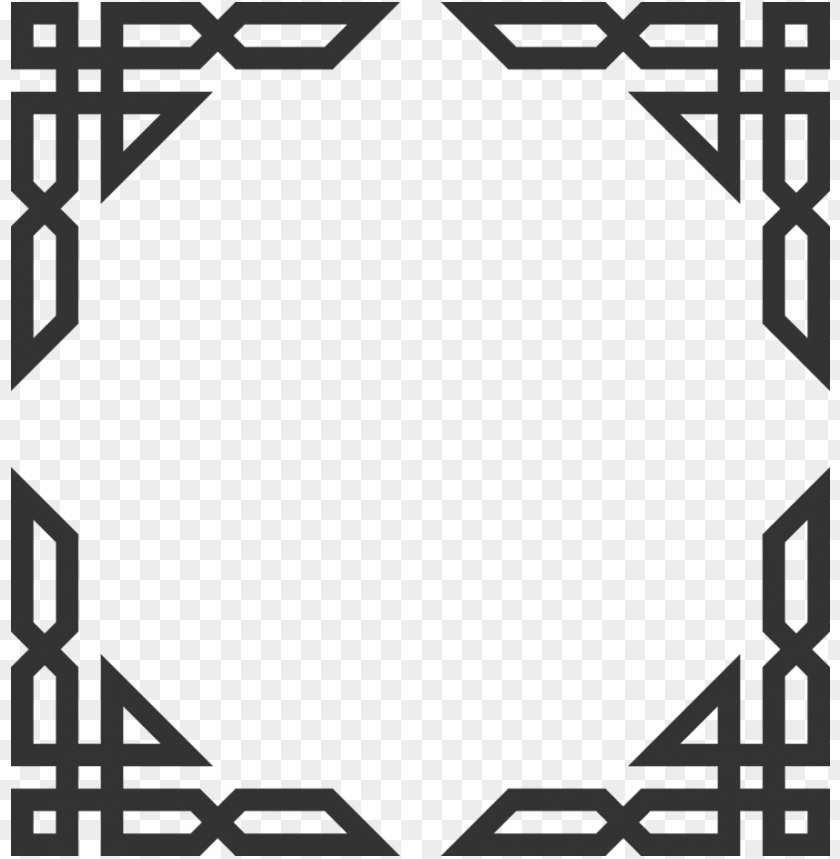 free PNG islamic corners clipart islamic design borders and - islamic frame PNG image with transparent background PNG images transparent