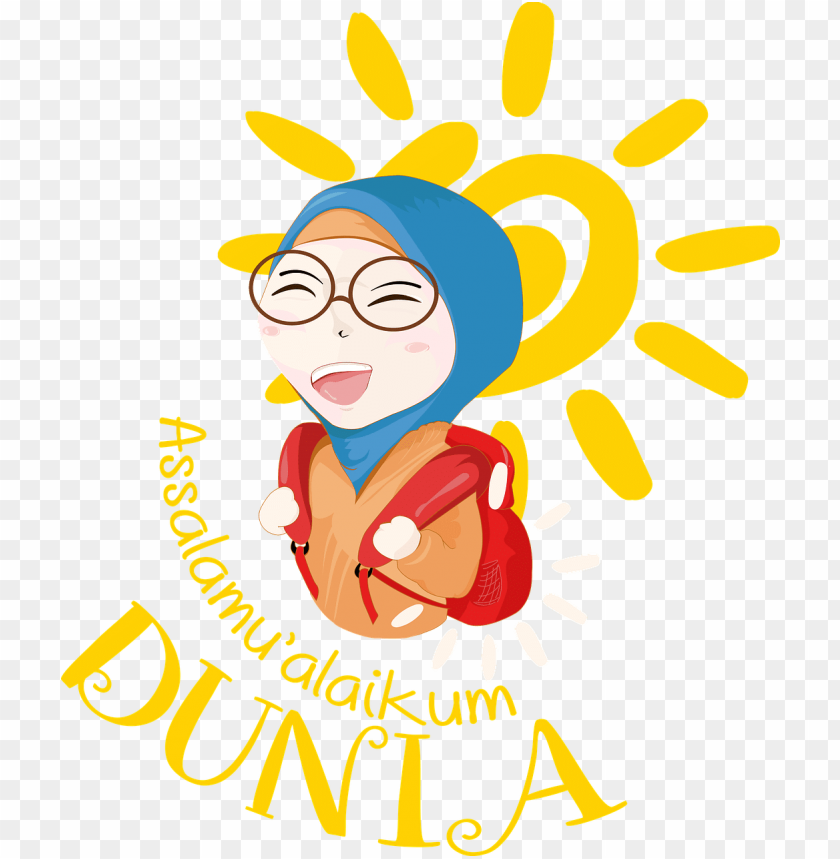 free PNG islamic girl bright day hijab png image - sun clip art PNG image with transparent background PNG images transparent