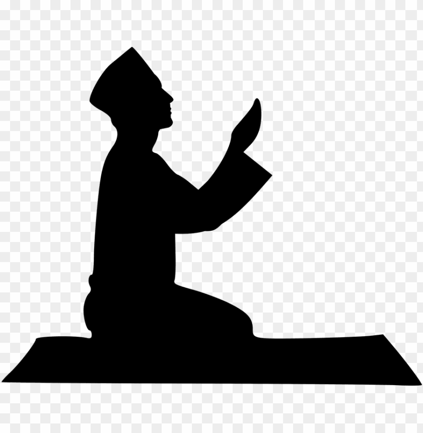free PNG islamic, prayer, silhouette, mosque, man, religion - muslim silhouette PNG image with transparent background PNG images transparent