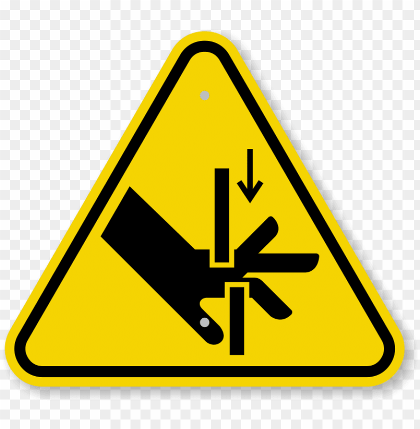 free PNG iso hand crush, moving parts symbol warning sign - warning sign hand crush PNG image with transparent background PNG images transparent
