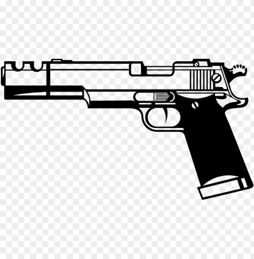 free PNG istol hand gun firearm gun weapon dangero - gun clipart black and white PNG image with transparent background PNG images transparent