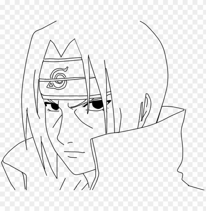 Itachi Uchiha Lineart By Misachan23 On Deviantart Step By Step