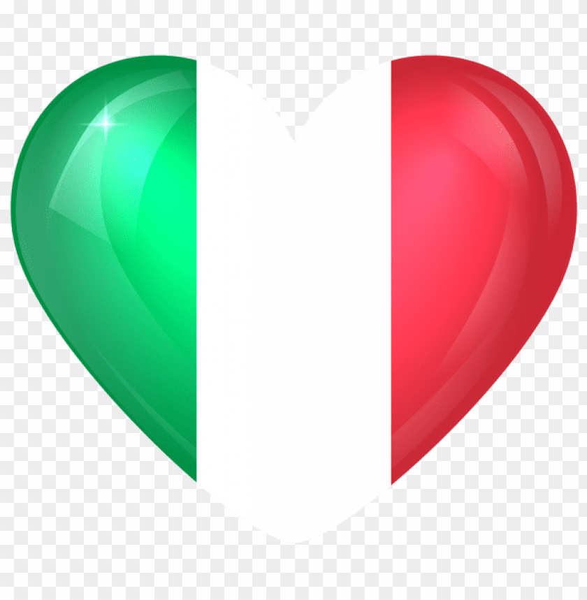 free PNG Download italy large heart flag clipart png photo   PNG images transparent