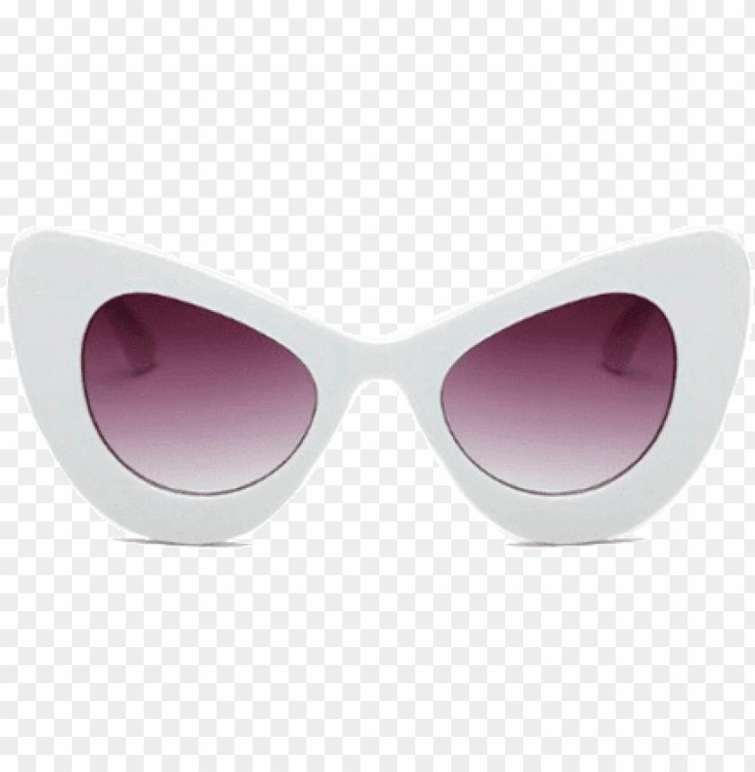 free PNG itgirl shop up corners volume sunglasses aesthetic - white sunglasses mini cat eye PNG image with transparent background PNG images transparent