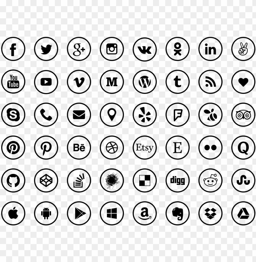 free PNG ithub, media, social icon - social media icons transparent vector PNG image with transparent background PNG images transparent