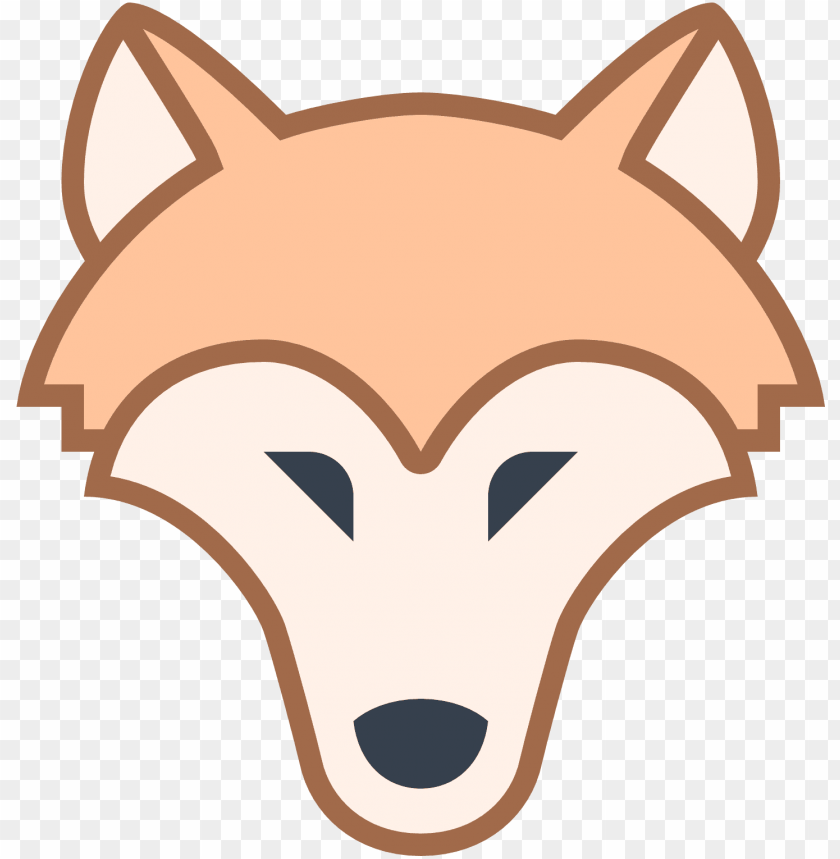 free PNG it's an icon of a wolf head with its nose pointed towards - flat wolf icon png - Free PNG Images PNG images transparent