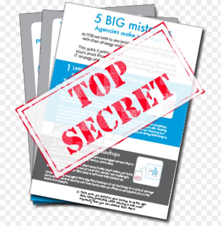 free PNG itsb top secret 5 big mistakes - top secret PNG image with transparent background PNG images transparent