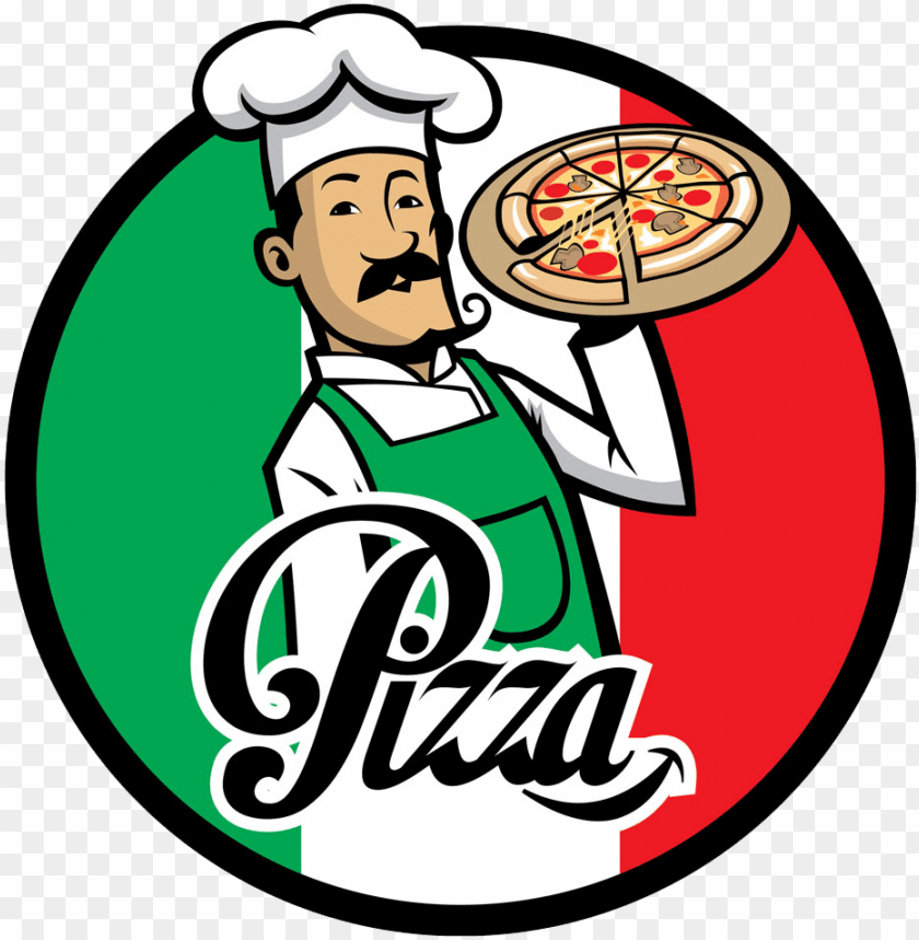 free PNG izza delivery italian cuisine chef - italian pizza chef cartoo PNG image with transparent background PNG images transparent