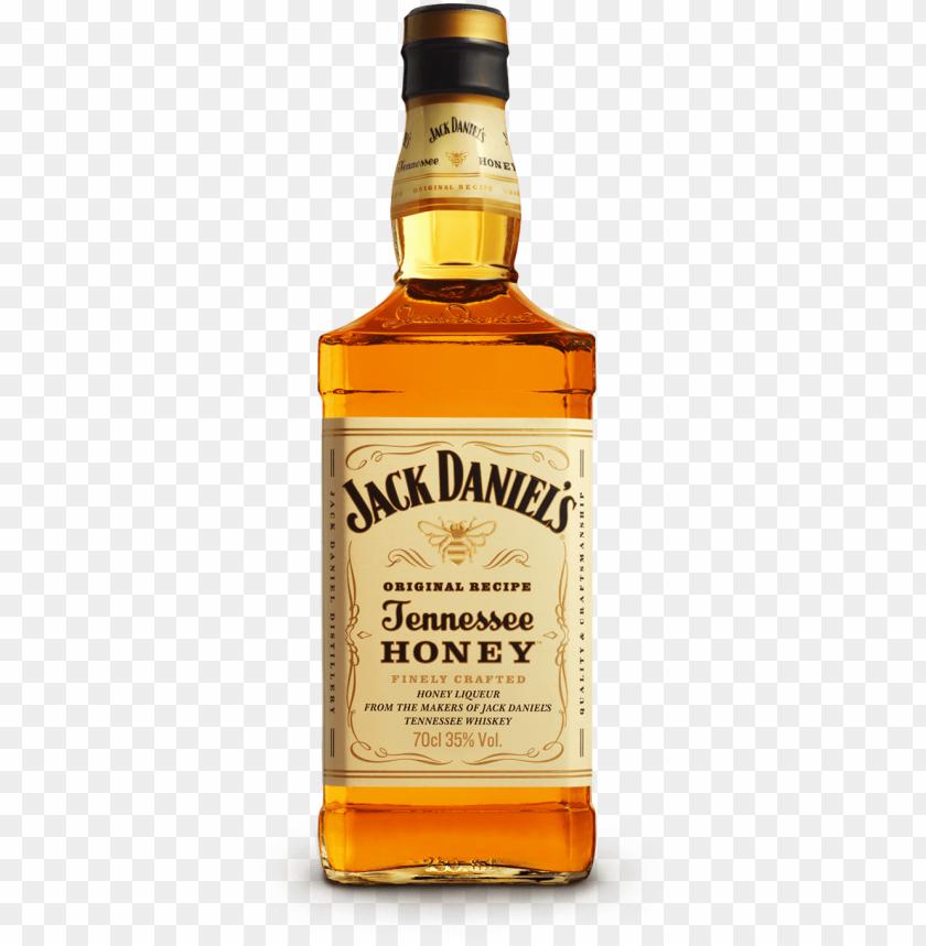 free PNG jack daniels honey png - jack daniel's tennessee honey whiskey - 750 ml bottle PNG image with transparent background PNG images transparent