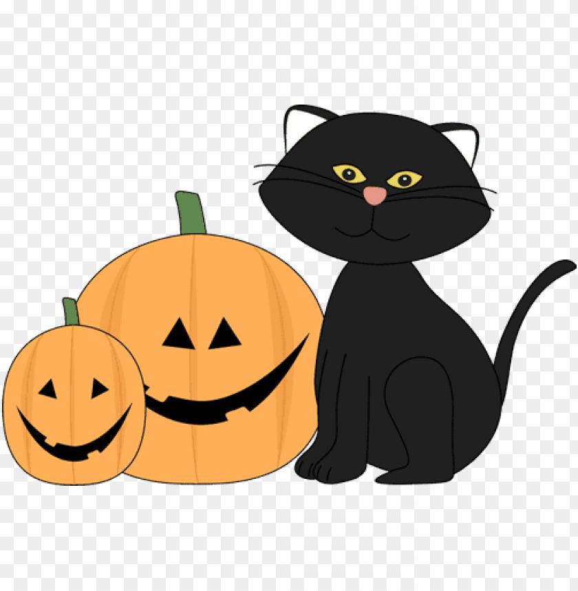 free PNG Download jack o lantern halloween black cat and jack lantern  halloween black clipart png photo   PNG images transparent