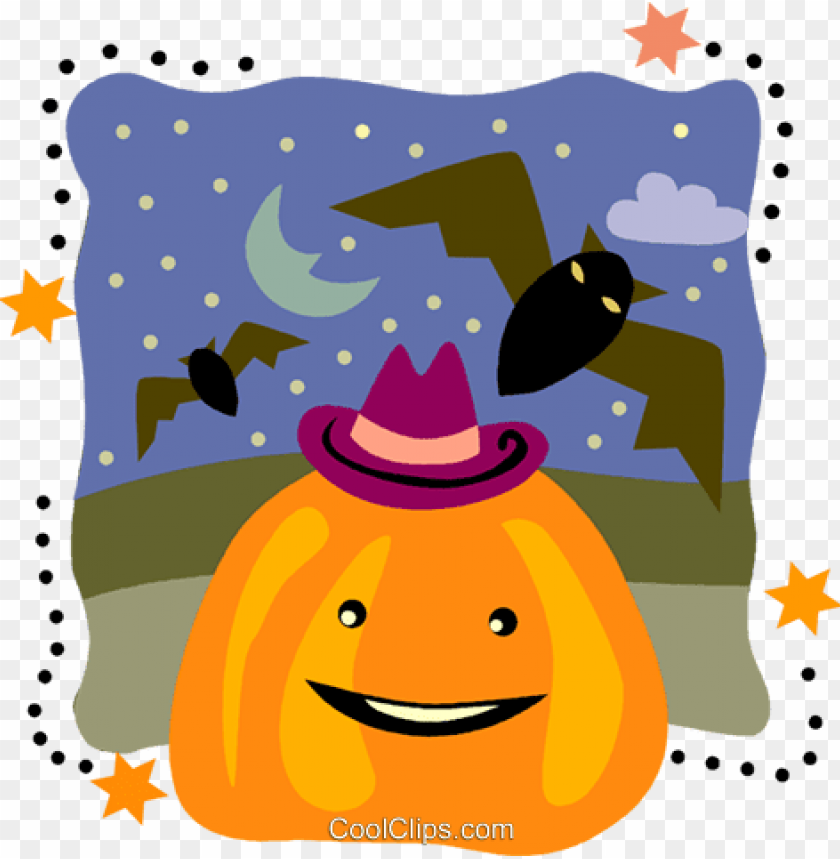 free PNG jack o lantern with flying bats royalty free vector - bat PNG image with transparent background PNG images transparent