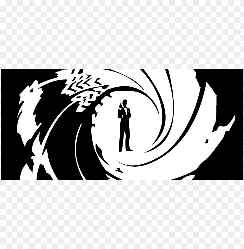 free PNG james bond 007 logo black and white - james bond logo PNG image with transparent background PNG images transparent