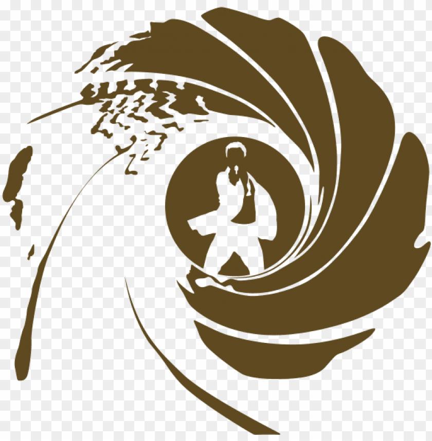 free PNG james bond clipart png - james bond gun barrel logo PNG image with transparent background PNG images transparent