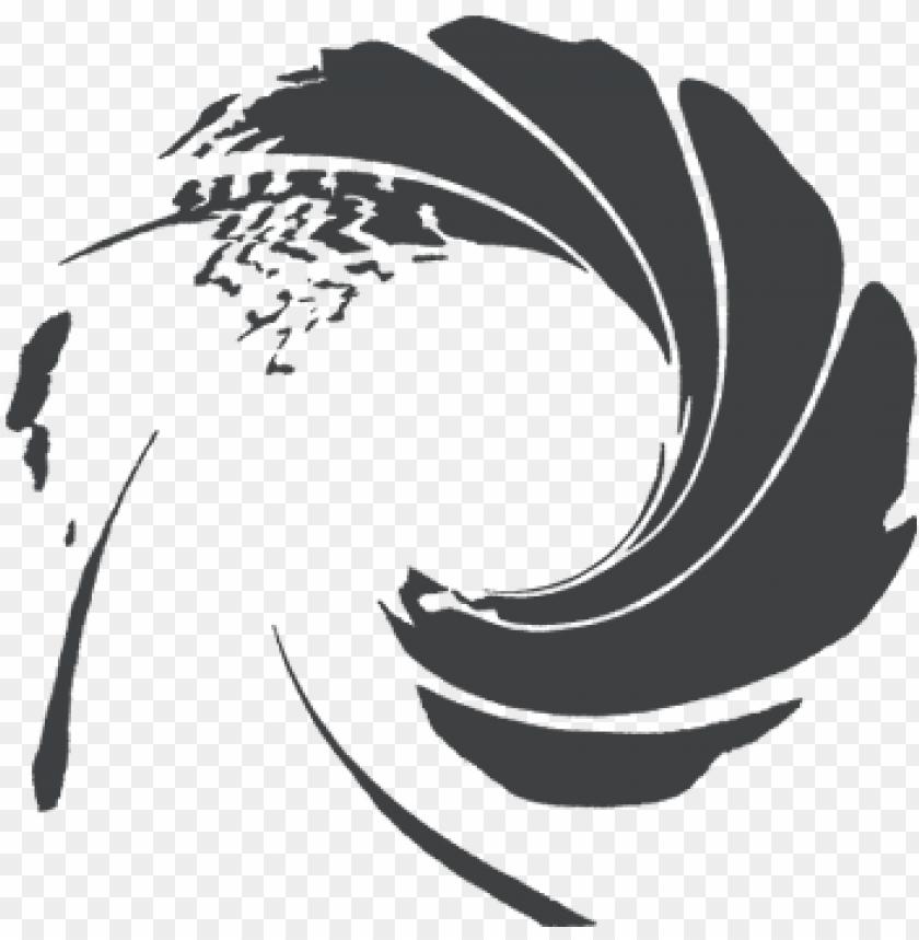 free PNG james bond gun barrel drawing - james bond gold logo PNG image with transparent background PNG images transparent