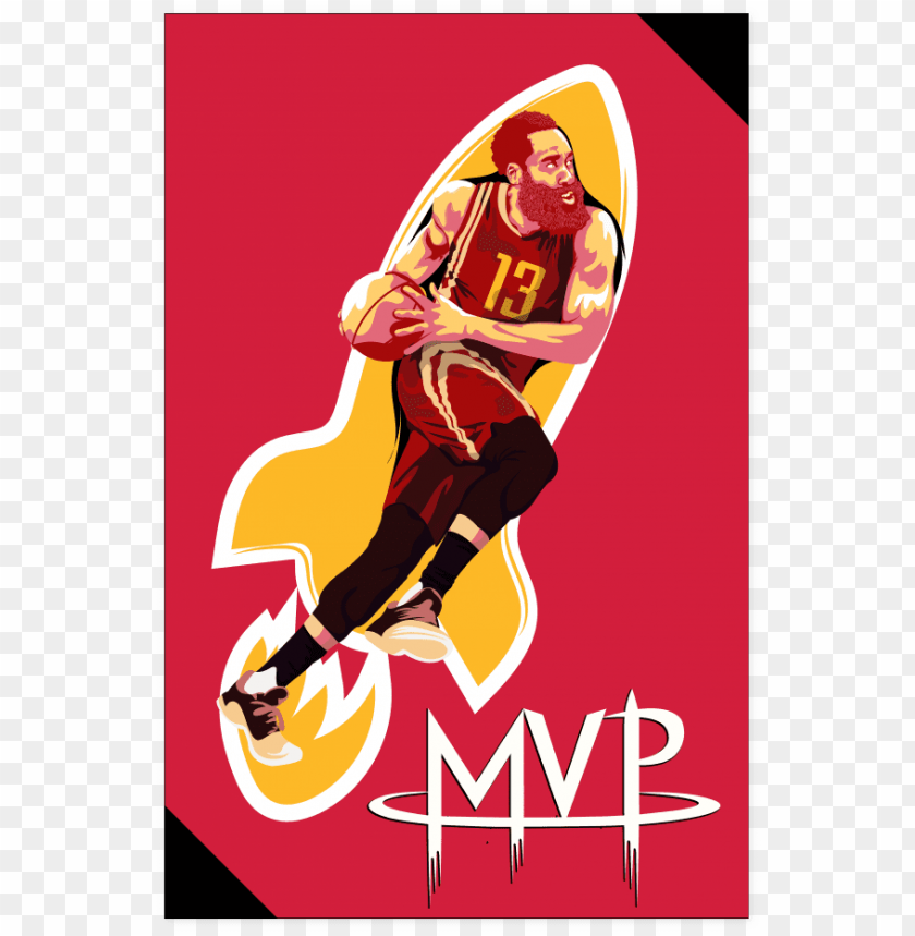 free PNG james harden mvp art poster - james harden art PNG image with transparent background PNG images transparent